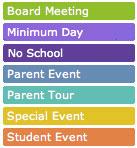 NCS calendar key